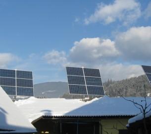 Suntracker montiert auf Flach- oder Satteldach